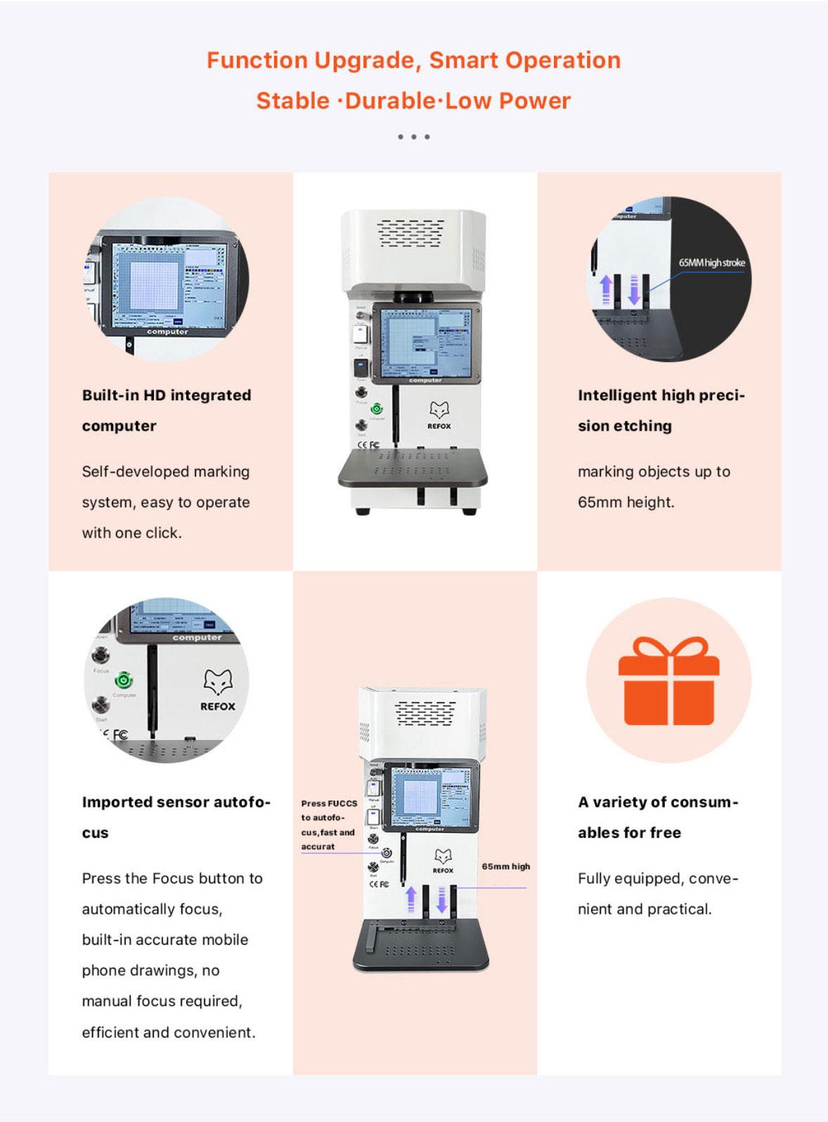 Automatic Desktop Laser Marking Machine Set