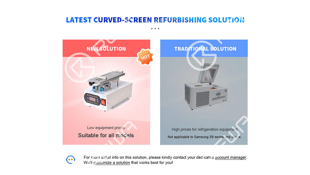 Rotatable Curved Screen LCD Separating Machine