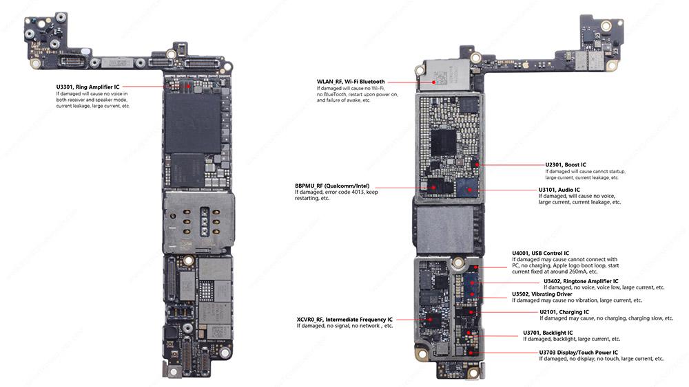 iphone 7 plus IC parts